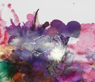 Abstract Flowers 2502.2  Art Print