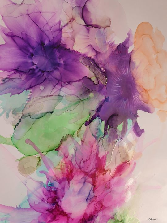 Stéphanie MENARD - Abstract Flowers 0108 Art Print
