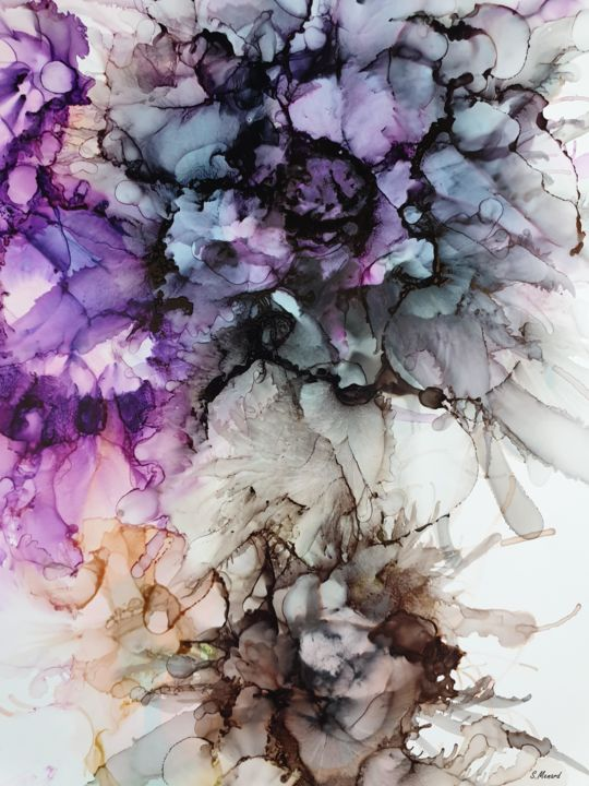 Stéphanie MENARD - Abstract Flowers 0308  Art Print